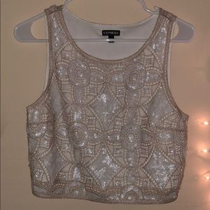 Sequins Express Crop Top